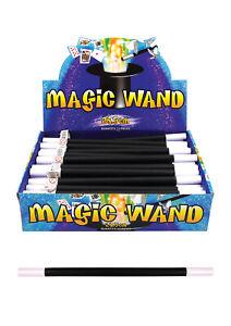 "NEW 10"" BLACK MAGICIANS MAGIC WIZARD WAND KID TOY PARTY BAG FILLER XMAS FUN BULK"