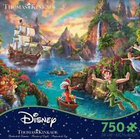 THOMAS KINKADE DISNEY DREAMS PUZZLE PETER PAN 750 PCS #2903-17