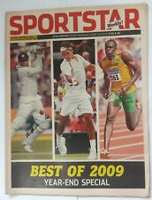 "India Sportstar 2008-12 TENNIS cover issues 10"" X 13"" (5)"