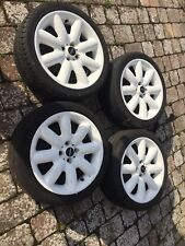 17 INCH GENUINE BMW MINI COOPER S SPOKE ALLOY WHEELS WHITE With Tyres