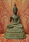 Vintage Thai Patinated Bronze Seated Buddha Figure