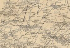 Brunswick Grafton Eagle Mills  NY 1876 Maps with Homeowners Names Shown