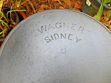 """""""WAGNER"""" SIDNEY 8, Cast Iron Skillet,  Vintage Cookware 1898-1915"""