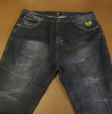 PHAT CLASSICS PHAT FARM MEN'S DISTRESSED DARK BLUE JEANS SIZE 46 X 24 RN 59123