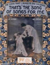 That's The Song Of Songs For Me, Great cover, 1915 vintage sheet music