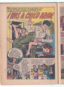 TEEN-AGE BRIDES 1 (1953 Harvey) GGA; Child Bride SPANKING; RARE; Only eBay