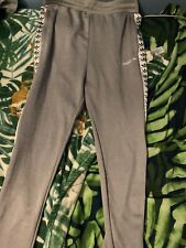 Boys Adidas joggers 13-14 years (fit Xs Men) light grey Taped jogging bottoms