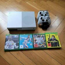 Xbox One S inkl. 2 Controllern, Ladestation und 4 Spiele (Zubehörpaket)