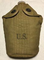 WW2 US A.G.M. Co. 1942 Aluminum Canteen With Cover Dated 1942 Great Condition