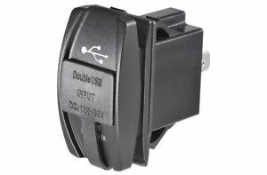 Narva Socket Dual USB 2 Port 12/24V 63218BL