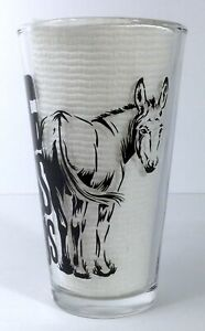 Big Ass Fans Glass Pint Beer Clear Black Graphics Donkey Mule New in Box