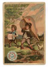 Calendrier XIXe : 1883 • VANDER SMISSEN FRERES Mercerie Fil à coudre Chromos