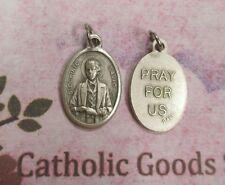 "Saint St. Dominic Savio -  Pray for Us  - Italian Silver Tone Ox 1"" Medal"