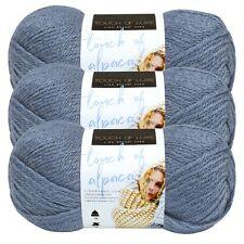 Lion Brand Yarn 674-108 Touch of Alpaca Yarn, Dusty Blue (Pack of 3 skeins)