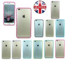 """TPU Gel Bumper with Clear Ice Back Case Cover for Iphone 5S/5C/6 4.7""""/6 Plus5.5"""""""