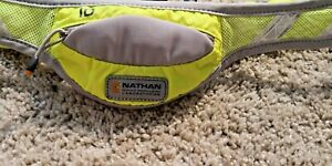 Nathan Running Belt Reflective Safety With Zip Pouch For iD Purple - Yellow