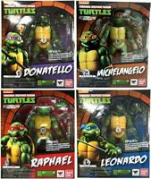 "S.H.Figuarts 6"" Teenage Mutant Ninja Turtles TMNT Action Figure 4pcs set PVC Toy"