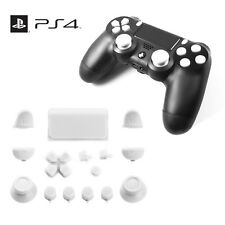 Replacement Full Button Custom Mod Kit Set For Sony PS4 V1 Controller (White)