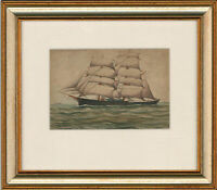 A. Patterson - Mid 20th Century Watercolour, Ship at Dover