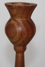 carved wood candle holder wood taller 21cm tall handcrafted sculptured wood