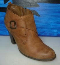 B.O.C. Born Concept Brown Ankle Boots Booties Heels Shoes Size 9