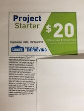 Lowes $20 off $100 purchase in store or online