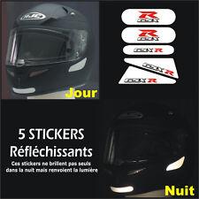 5 Stickers RETRO-REFLECHISSANTS GSXR pour CASQUE