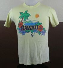 VTG HAWAII tourist Souvenir tshirt pomare sunset beach yellow M poly tees style