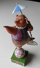 Jim Shore Heartwood 4007672 CIRCUS BEAR, BALL AND PARASOL, Resin Figurine, NEW