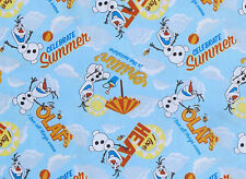 "21"" REMNANT  OLAF CHILLIN IN THE SUNSHINE DISNEY FROZEN FABRIC FOREVER COTTON"