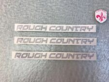 RC ROUGH COUNTRY decals stickers die cut gray 3 Decals 0.75 X 8""