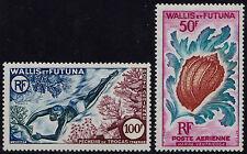 WALLIS ET FUTUNA PA N°18/19** Coquillage, Pêcheur, TB, 1962 Shell, Fisherman MNH