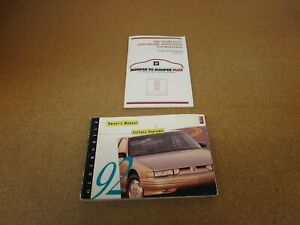ORIGINAL 1992 Oldsmobile Cutlass Supreme owners manual instruction literature