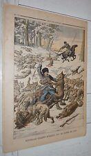 PETIT JOURNAL 1904 GUERRE RUSSIE-JAPON COSAQUES LOUPS / PRESIDENT LOUBET ITALIE