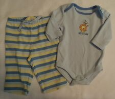 GYMBOREE Boys 0-3 Month Brand New Baby Lion Pant Bodysuit Outfit NWT