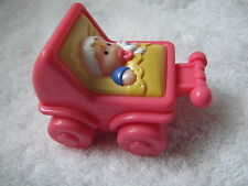 Fisher Price Little People BABY INFANT GIRL FPLP Carriage Buggy Stroller Rare!