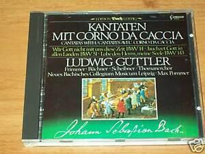CD -J.S.BACH-KANTATEN CORNO DA CACCIA-GUTTLER-Capriccio