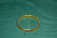 "Rare Pierre Cardin Signed Goldtone Designer 8"" Stretch Bracelet"