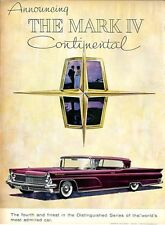 1959 Lincoln Continental Mark IV Maroon 2-dr Great Vintage1958 PRINT AD