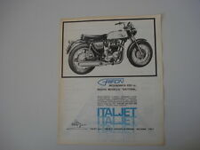 advertising Pubblicità 1969 MOTO ITALJET GRIFON DAYTONA 650