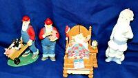 CHRISTMAS Santa Claus figurine ornaments lot of 4 vintage VERY NICE PIECES