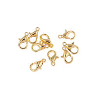 50pcs Gold Lobster Clasp Hooks For Chain Necklace Connection DIY Keychain Bag