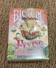 BICYCLE FLYING MACHINES RED PLAYING CARDS.
