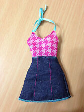 Barbie Doll Fashionistas Pink Denim Jeans Blue Halter Dress Outfit