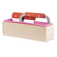 Moule à savon en silicone avec coupe-pain en bois Ensemble d'outils de coupe