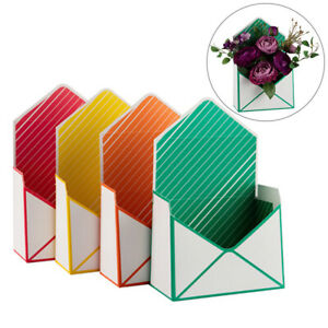 Creative Paper Envelope Flower Gift Packaging Boxes Wedding Party Bouquet
