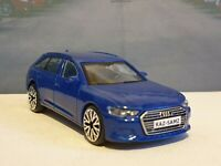 PERSONALISED AUDI A6 AVANT - BLUE 1.43 DIECAST MODEL CAR BOXED BIRTHDAY GIFT NEW
