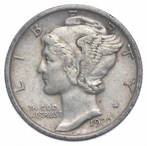 Razor Sharp 1920 Mercury Liberty Dime - 90% Silver - Stunning in High Grade *255