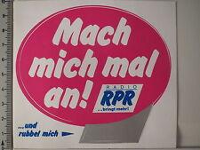 Aufkleber Sticker Radio RPR Mach mich mal an Decal (3532)
