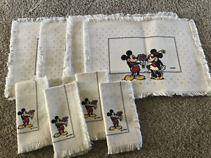 "Disney Mickey Minnie Mouse Place Mates ""you're something special"" & Napkins"